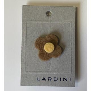 未使用 LARDIN ラルディーニ 純正ブートニエール ベージュ×ブラウン