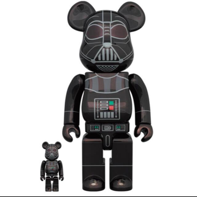 MEDICOM TOY(メディコムトイ)のBE@RBRICK DARTH VADER 100% 400% エンタメ/ホビーのおもちゃ/ぬいぐるみ(キャラクターグッズ)の商品写真
