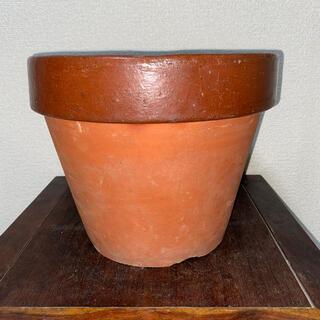 植木鉢 素焼き 9号 山野草 草花 深鉢 鉢 盆栽鉢(その他)