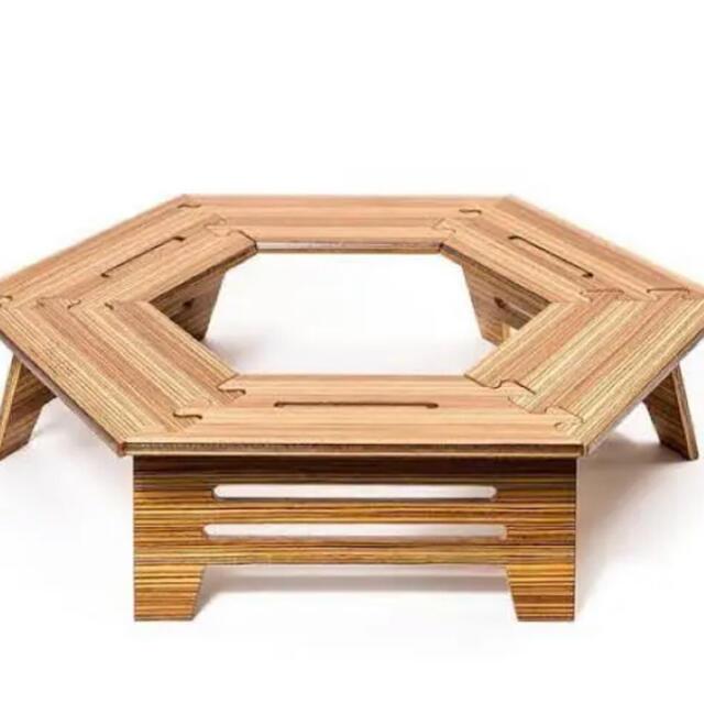The Arth ヘキサテーブル しま次郎(通常ウレタン) スポーツ/アウトドアのアウトドア(テーブル/チェア)の商品写真