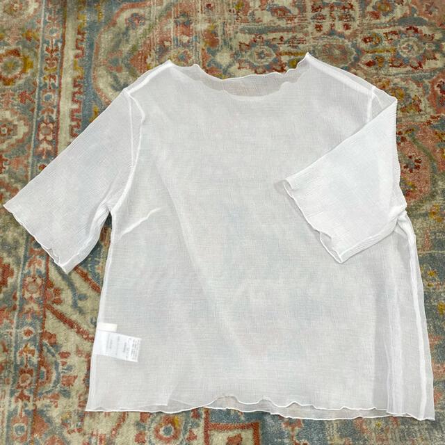 who's who Chico(フーズフーチコ)のシアーメロウブラウス 五分袖 レディースのトップス(シャツ/ブラウス(半袖/袖なし))の商品写真