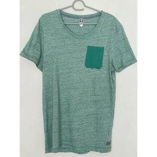 ジースター(G-STAR RAW)のG-STAR RAW  メンズ Vネック半袖Tシャツ ポケT  杢グリーン L(Tシャツ/カットソー(半袖/袖なし))