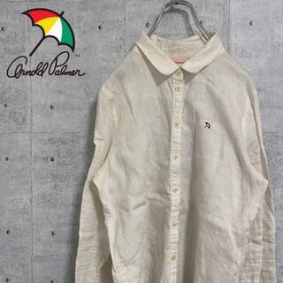 アーノルドパーマー(Arnold Palmer)のArnold Palmer アーノルドパーマー シャツ ワンポイント刺繍 白 M(シャツ/ブラウス(長袖/七分))