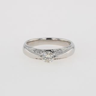 ダイヤモンド デザインリング 12号 Pt900 【中古】(リング(指輪))