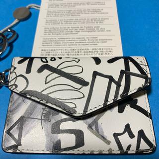 Maison Martin Margiela - 新品 マルジェラ  白系グラフィティ キーリング   カードケース ミニ財布