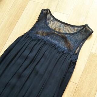 ダブルスタンダードクロージング(DOUBLE STANDARD CLOTHING)の黒レースノースリーブ(Tシャツ(半袖/袖なし))