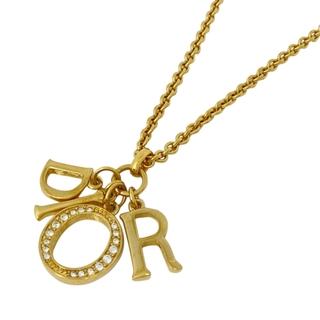 Christian Dior - クリスチャンディオール ロゴ ネックレス GP 【中古】