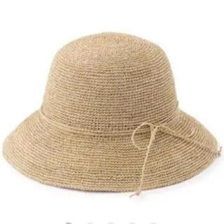 ムジルシリョウヒン(MUJI (無印良品))の無印良品 ラフィア 麦わら帽子 未使用品(麦わら帽子/ストローハット)