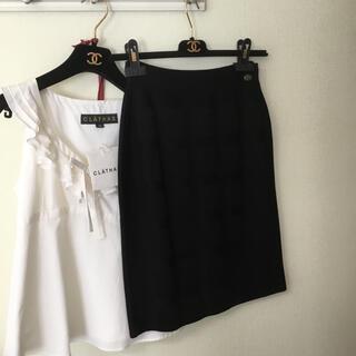 CHANEL - シャネルニットスカート 黒36