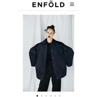 ENFOLD - 2021SS  ENFOLD ヘビーサテン ベンチコート