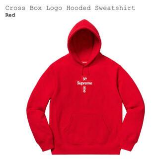 Supreme - Supreme Cross Box Logo パーカー 赤 red L