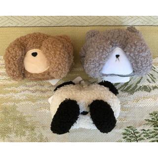 しまむら - アニマルエコバッグ クマ ネコ パンダ 3種セット