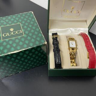 Gucci - GUCC グッチ チェンジベルト 稼働品 レディース 皮ベルト新品2本