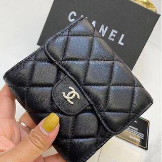 CHANEL - CHANELシャネル マトラッセ 三つ折り財布