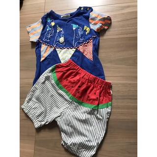 NARUMIYA INTERNATIONAL - babycheer サーカスTシャツ80& スイカパンツ80