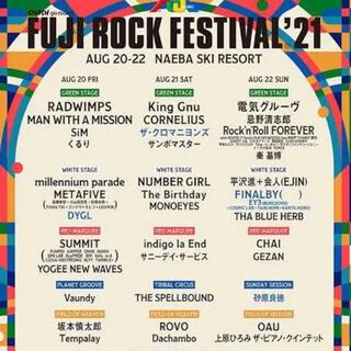 fuji rock フジロック2021 フェス 8月20日