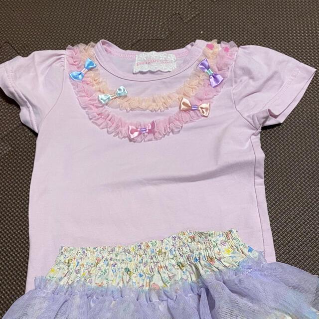 fafa(フェフェ)のパンパンチュチュ ピンク Tシャツ キッズ/ベビー/マタニティのベビー服(~85cm)(Tシャツ)の商品写真