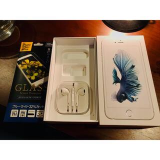 アイフォーン(iPhone)のアイホン ◉中古美品イヤホン+6s plus空き箱 ※新品2枚9Hガラス画面保護(ヘッドフォン/イヤフォン)