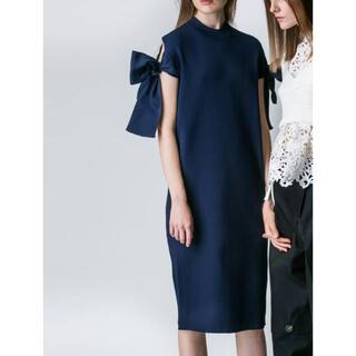 ドゥロワー(Drawer)のAKIRA NAKA Bella ribbon dress(ニットワンピース)(ひざ丈ワンピース)