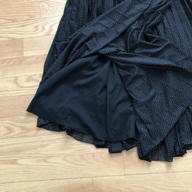 Mila Owen(ミラオーウェン)のミラオーウェン ドット柄プリーツスカート レディースのスカート(ロングスカート)の商品写真