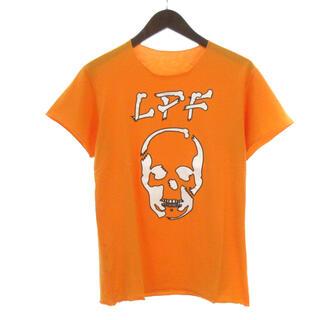 ルシアンペラフィネ(Lucien pellat-finet)のルシアンペラフィネ Tシャツ 半袖 スカル ドクロ LPF ロゴ オレンジ S(Tシャツ/カットソー(半袖/袖なし))