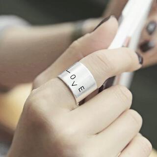 トゥデイフル(TODAYFUL)のシルバーリング LOVEリング 新品(リング(指輪))