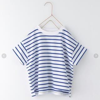 LOWRYS FARM - 新品 ローリーズファーム  USAボーダーTシャツ 半袖 ブルー 110 120