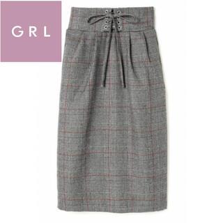 グレイル(GRL)の新品タグ付 GRL グレイル スカート 匿名配送(ひざ丈スカート)