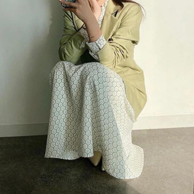 eimy istoire(エイミーイストワール)のeimy istoire Horseshoe print Iラインスカート レディースのスカート(ロングスカート)の商品写真