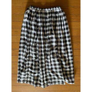 ムジルシリョウヒン(MUJI (無印良品))の無印良品*ロングスカート・チェック・春、夏用(ロングスカート)