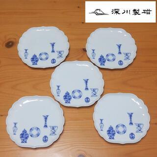 6枚セット  深川製磁 ブルーチャイナ お皿