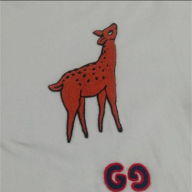 Gucci(グッチ)のGUCCI メンズ 白Tシャツ バンビ Sサイズ メンズのトップス(Tシャツ/カットソー(半袖/袖なし))の商品写真