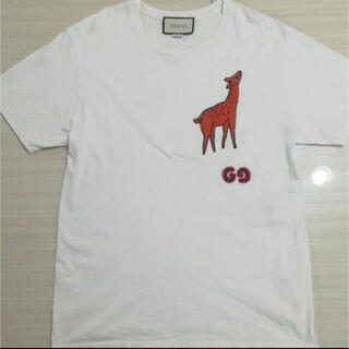 Gucci - GUCCI メンズ 白Tシャツ バンビ Sサイズ