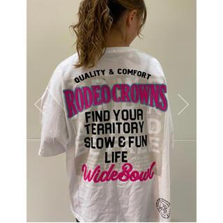 ロデオクラウンズワイドボウル(RODEO CROWNS WIDE BOWL)のロデオ ★0528 BIG Tシャツ【ホワイト】(Tシャツ(半袖/袖なし))