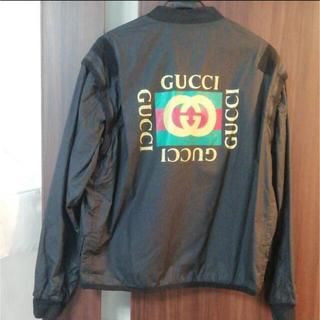 グッチ(Gucci)のGUCCI メンズ ロゴ ジャケット Mサイズ(ナイロンジャケット)