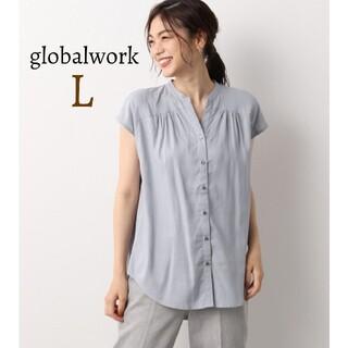 グローバルワーク(GLOBAL WORK)の新品 グローバルワーク フレンチリネン混ブラウス シャツ フレンチスリーブ(シャツ/ブラウス(半袖/袖なし))