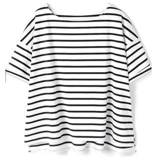 グレイル(GRL)のGRL グレイル 袖ロールアップボーダーTシャツ(Tシャツ(半袖/袖なし))