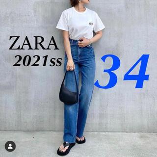 ZARA - ZARA 新品 フルレングス ワイドレッグ ハイライズデニム S アッパーハイツ