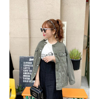 Baybee☆no collar military jacket