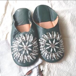 ファティマモロッコ(Fatima Morocco)の新品 ファティマモロッコ バブーシュ スリッパ(スリッパ/ルームシューズ)