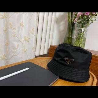 PRADA - ☆PRADA プラダ LOGO ナイロン バケットハット