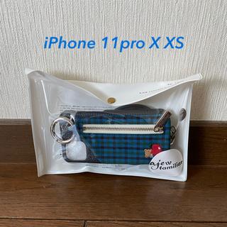 ファミリア(familiar)のエジュー ajew ファミリアコラボ iPhone 11pro Ⅹ ⅩSケース(その他)