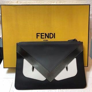 フェンディ(FENDI)のフェンディ FENDI クラッチバッグ バッグバグズ ブラック メンズ(ビジネスバッグ)