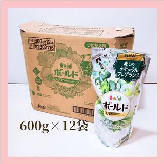 P&G ボールドジェル グリーンガーデン&ミュゲの香り 詰替 600g×12袋(洗剤/柔軟剤)