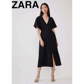 ZARA - ZARA ロングワンピース ブラック ザラ