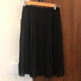ユニクロ(UNIQLO)の新品 ユニクロ UNIQLO シフォンプリーツミディスカート ロングスカート(ひざ丈スカート)