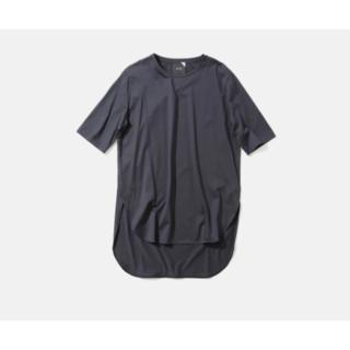 FRAMeWORK - 未使用・ATONのSUVIN60/2ラウンドヘムTシャツ・ネイビー