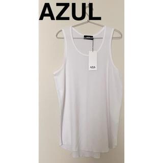 AZUL by moussy - AZUL  タンクトップ ノースリーブ トップス ホワイト メンズ