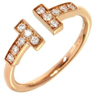 Tiffany & Co. - ティファニー tワイヤーリング k18PG 12pダイヤ ダイヤモンド