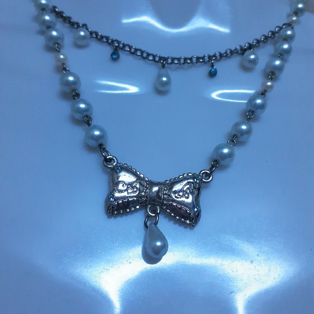 Angelic Pretty(アンジェリックプリティー)のアンジェリックプリティ リボンネックレス レディースのアクセサリー(ネックレス)の商品写真